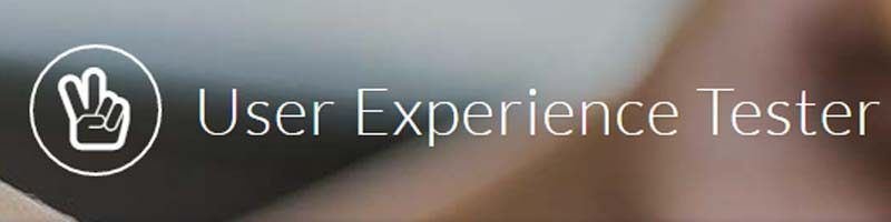 User experience web tester
